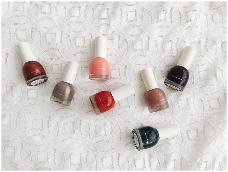 h&m beauty products, nail polish, review