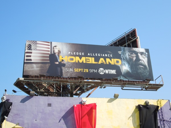 Homeland series 3 billboard