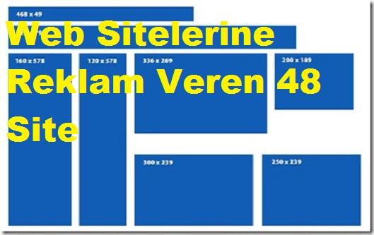 Web Sitelerine Reklam Veren 48 Site