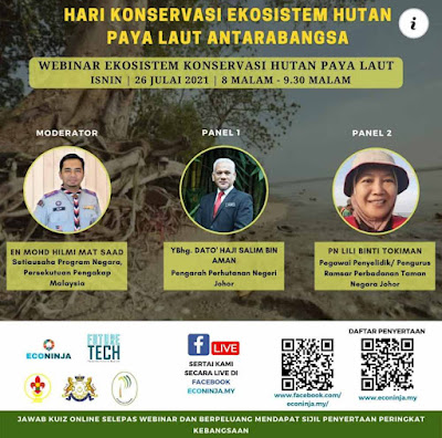 Sijil online peringkat kebangsaan, kuiz online dapat sijil, kuiz online 2021, kuiz online hari koservasi ekosistem hutan paya laut antarabangsa