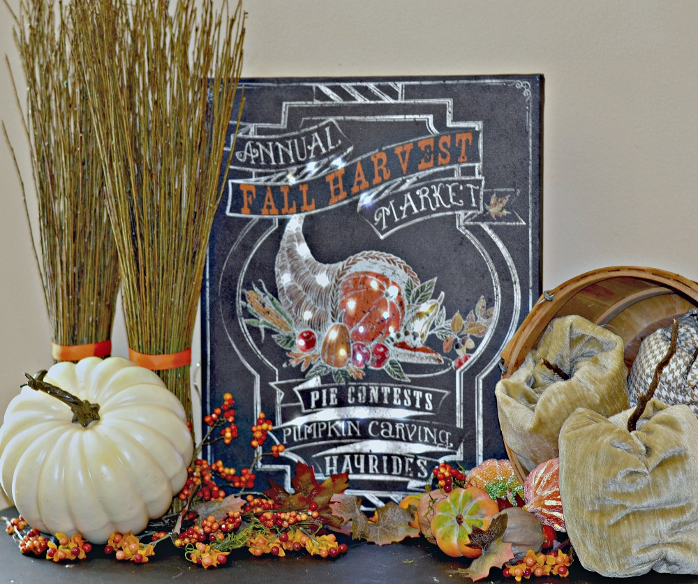 diy craft for fall decorating using battery powered lights