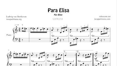 Para Elisa de Beethoven Partitura de Piano Completo (Full Per Elise)