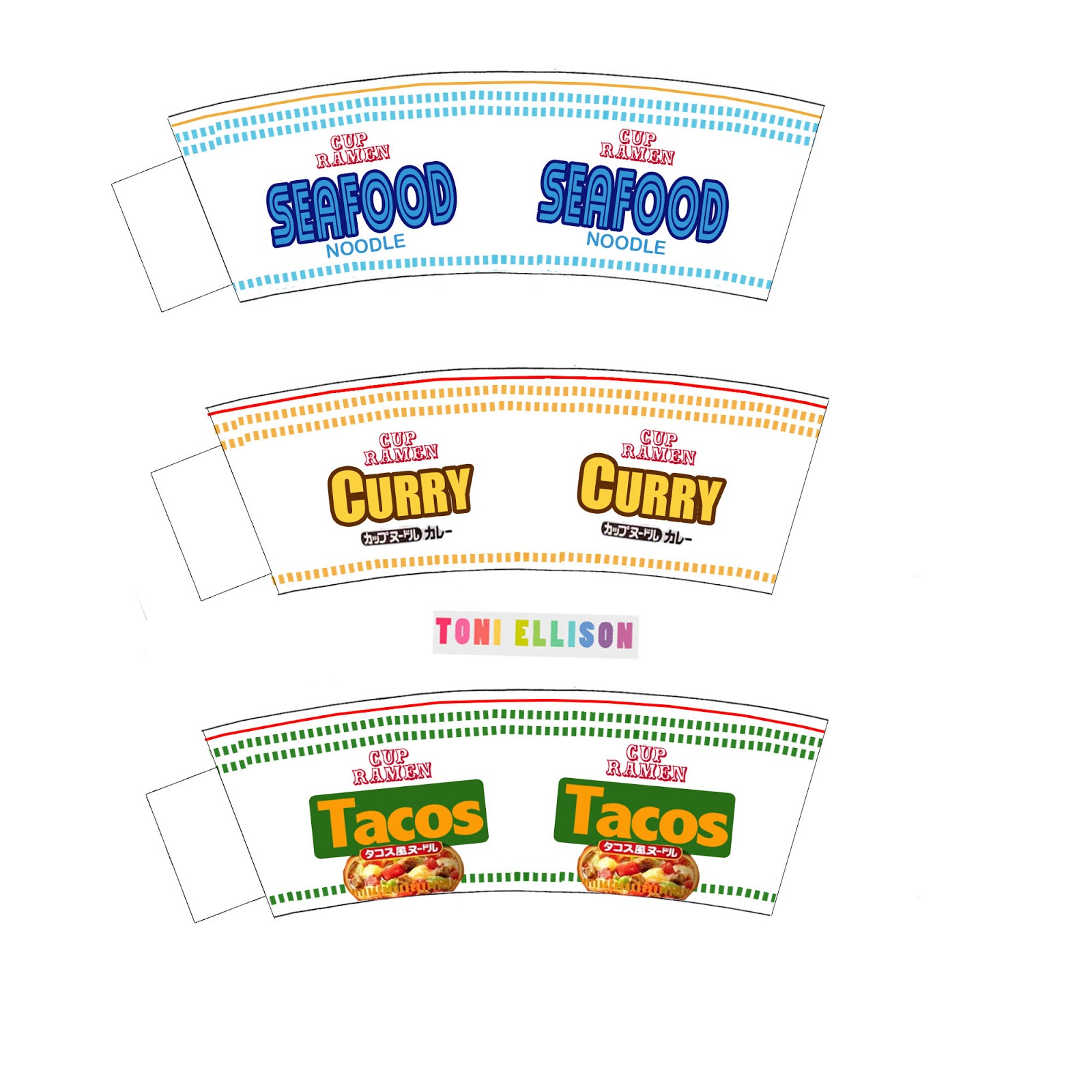 coffee cup wrapper template - toni ellison cup ramen from another country