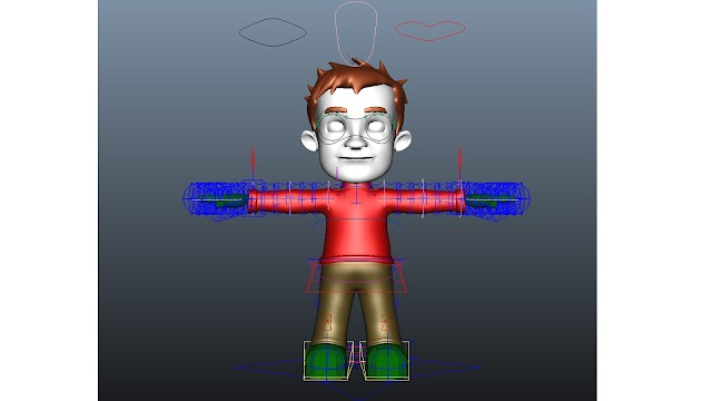 Character Rig 3d model free download maya