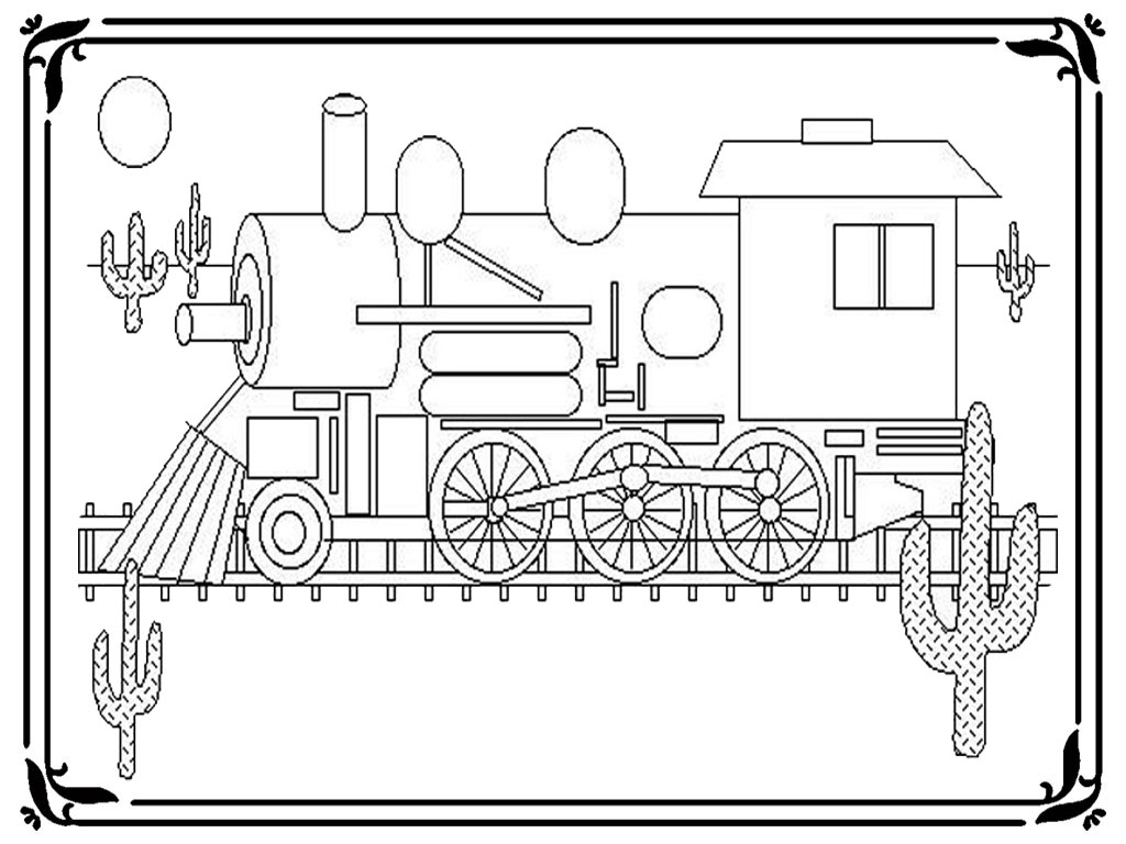 Subway Train Pages Realistic Coloring Pages