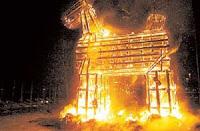 Suedia: Incendierea caprei