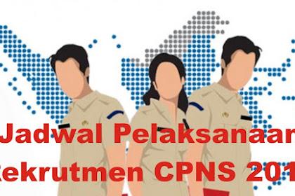 Jadwal Pelaksanaan Rekrutmen CPNS 2019