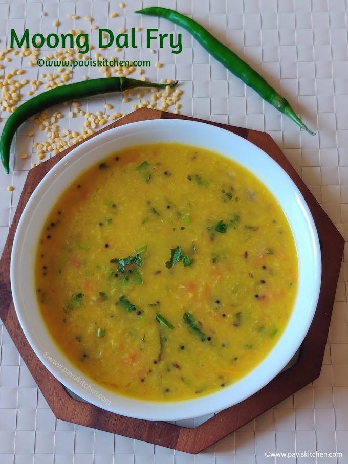 Yellow moong dal fry recipe   best Indian dal recipe   moong dal sabji recipe (stovetop & pressure cooker)