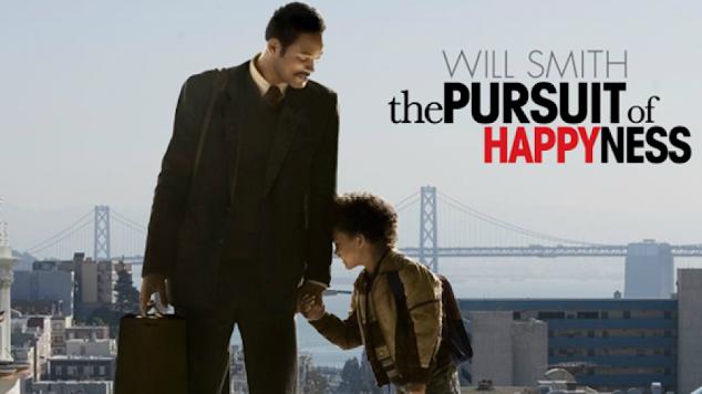 فيلم السعي للسعادة the pursuit of happiness