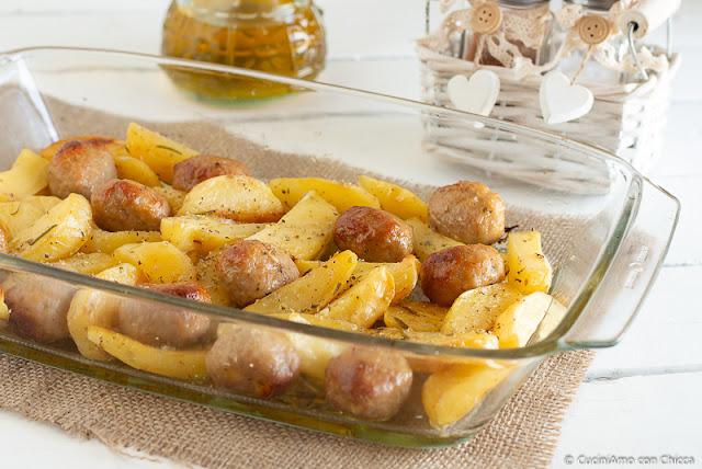Polpettine senza glutine con patate al forno