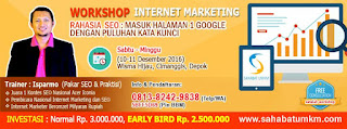 Workshop Internet Marketing Bulan Desember