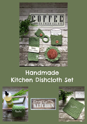 Handmade Green Dish Cloths