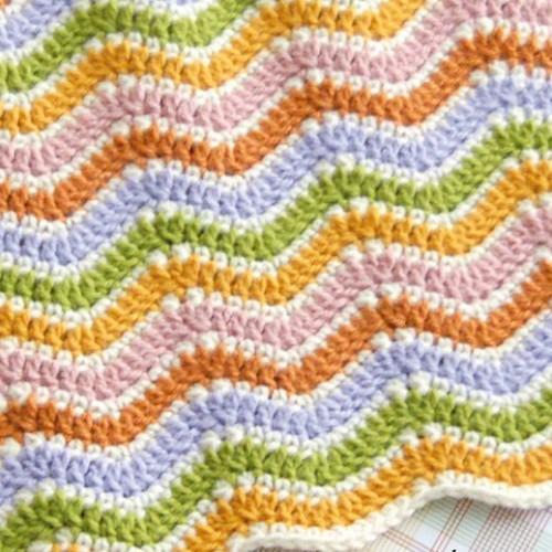 Simple Wave Stitch - Free Pattern