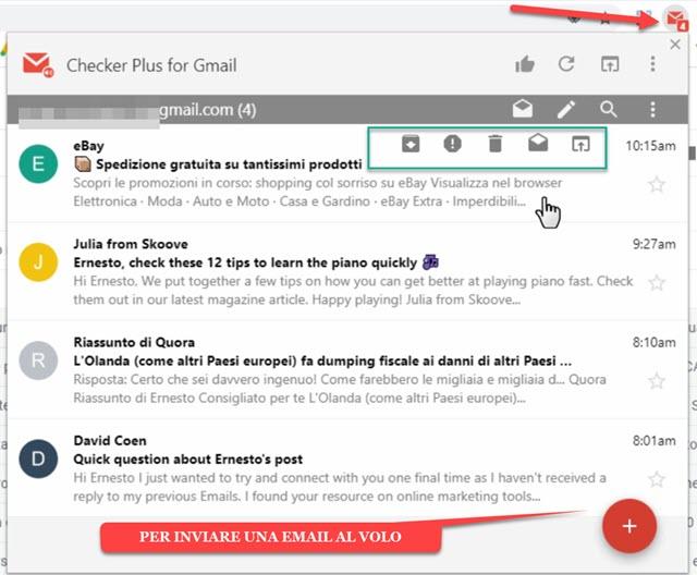 gestione delle email con checker plus for gmail