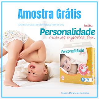 Amostra Grátis Fraldas Personalidades baby