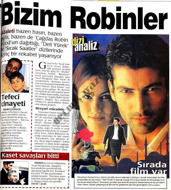 Deli Yürek hakkındaki gazete küpürleri - Bizim Robinler - Kenan İmirzalıoğlu - Zeynep Tokuş - sadecegercek.net - Sadece Gerçek