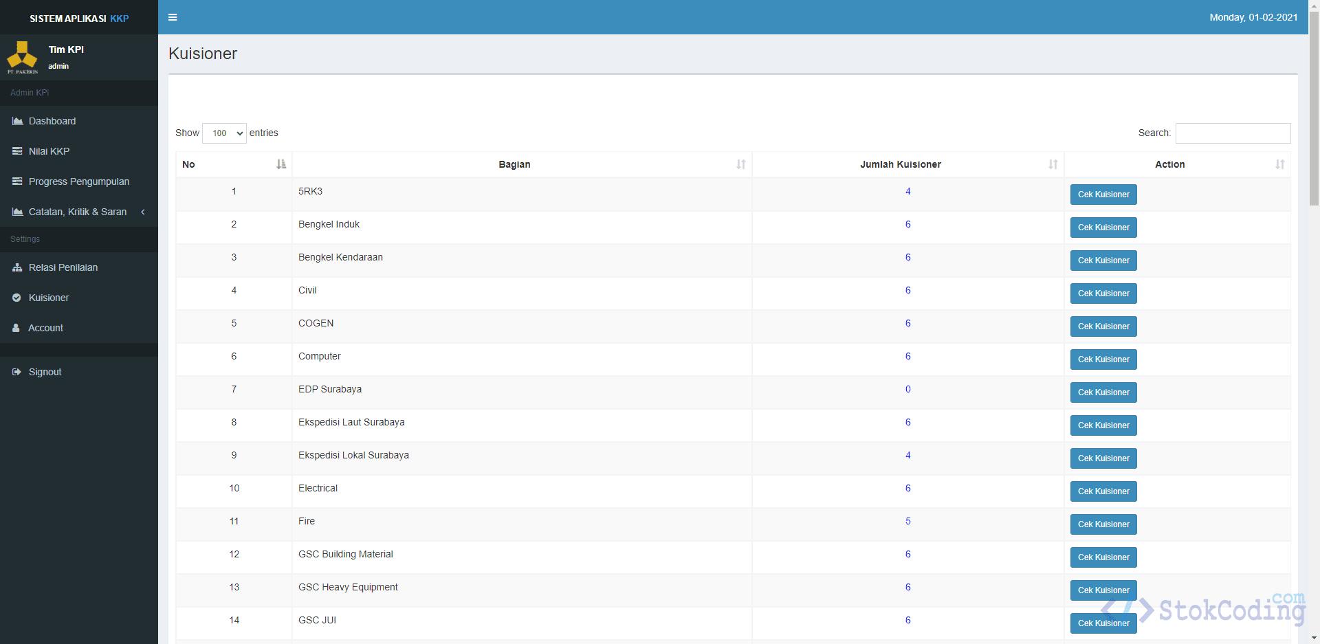 Aplikasi Kuisioner Kepuasan Pelanggan Berbasis Web (Codeigniter)