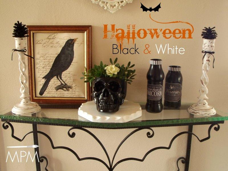 Decorazioni fai da te per Halloween in Bianco e Nero