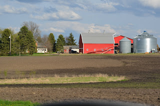Farm seen from across a field