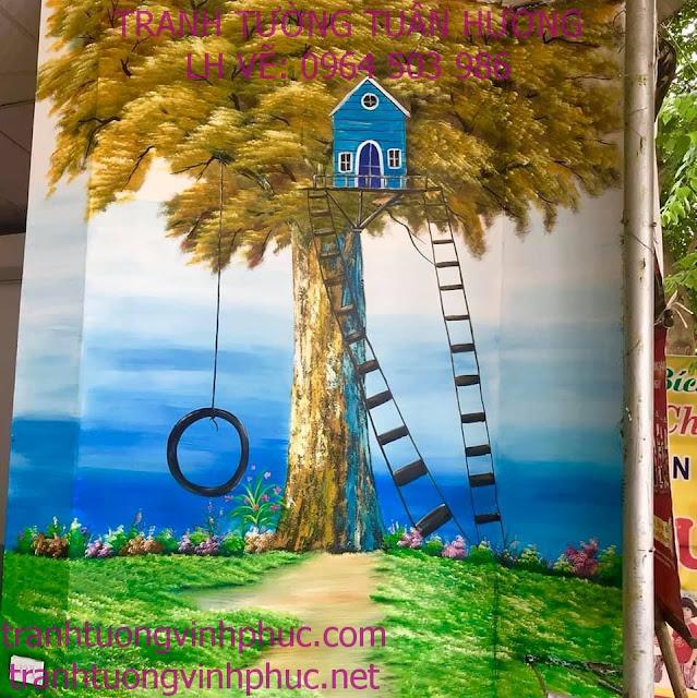 vẽ tranh phong cảnh tại hương canh bình xuyên