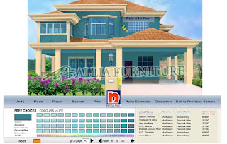 Aplikasi untuk warna Cat luar Rumah nippon paint