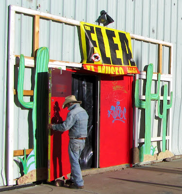 Opening the flea market in Santa Fe, New Mexico