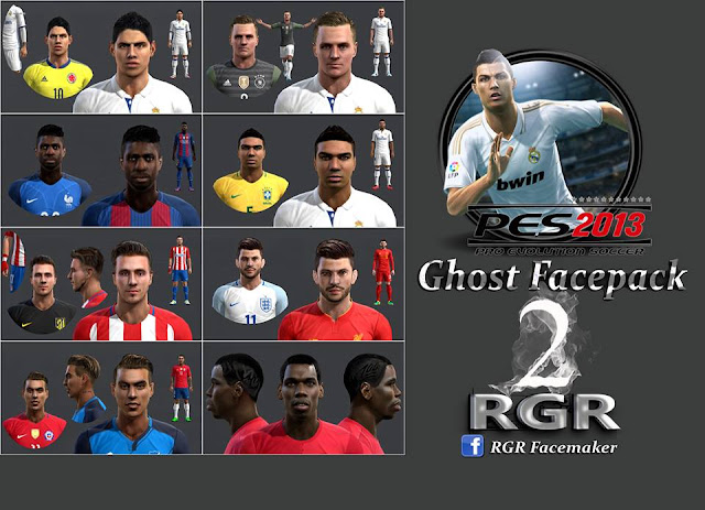 PES 2013 Ghost Facepack Vol.2 by Rgr DS