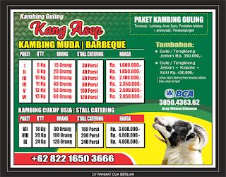 harga kambing guling lembang