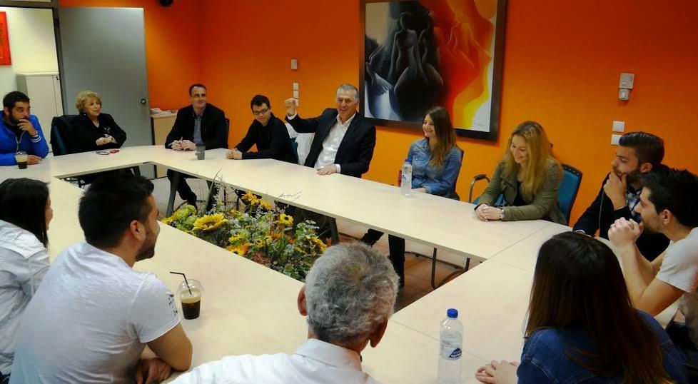 Συναντήσεις Παχατουρίδη με Περιστεριώτες φοιτητές, δικαιούχους της δράσης «ΣΕ ΕΧΩ ΕΝΝΟΙΑ»