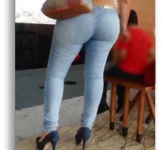 Señora buen trasero pantalones