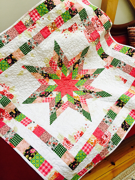 Matilda's Star Quilt Free Pattern Designed by SUSIE of Susies-Scraps