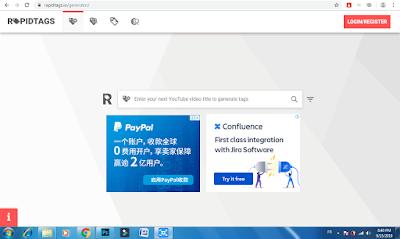 موقع RapidTags أفضل أداة للحصول على كلمات مفتاحية لتصدر محرك بحث يوتيوب.