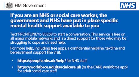 Mental health NHS workers help