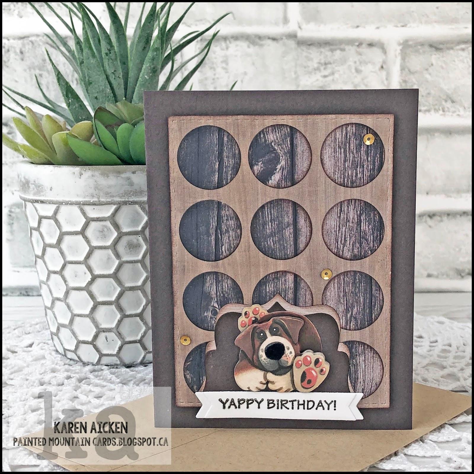 Duo2 Sergei Ekaterina Images: Painted Mountain Cards: Woodgrain & Dogs Birthday Card Duo