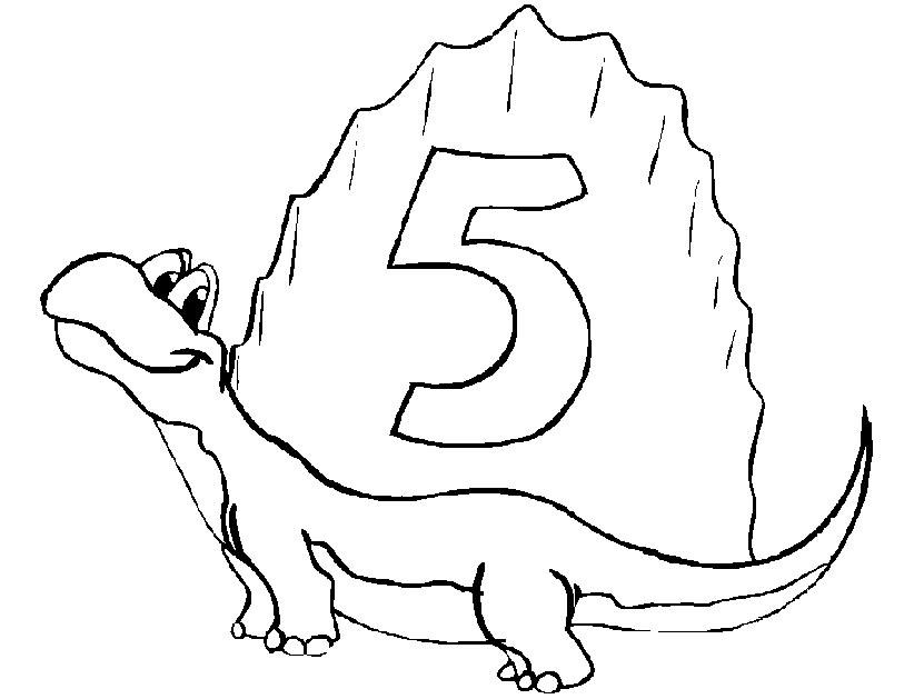 dinossauros desenhos de numeros