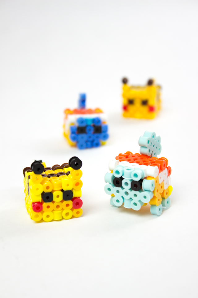 Totally Awesome 3D Perler Bead Pikachu and Squirtle (Free Patterns ...