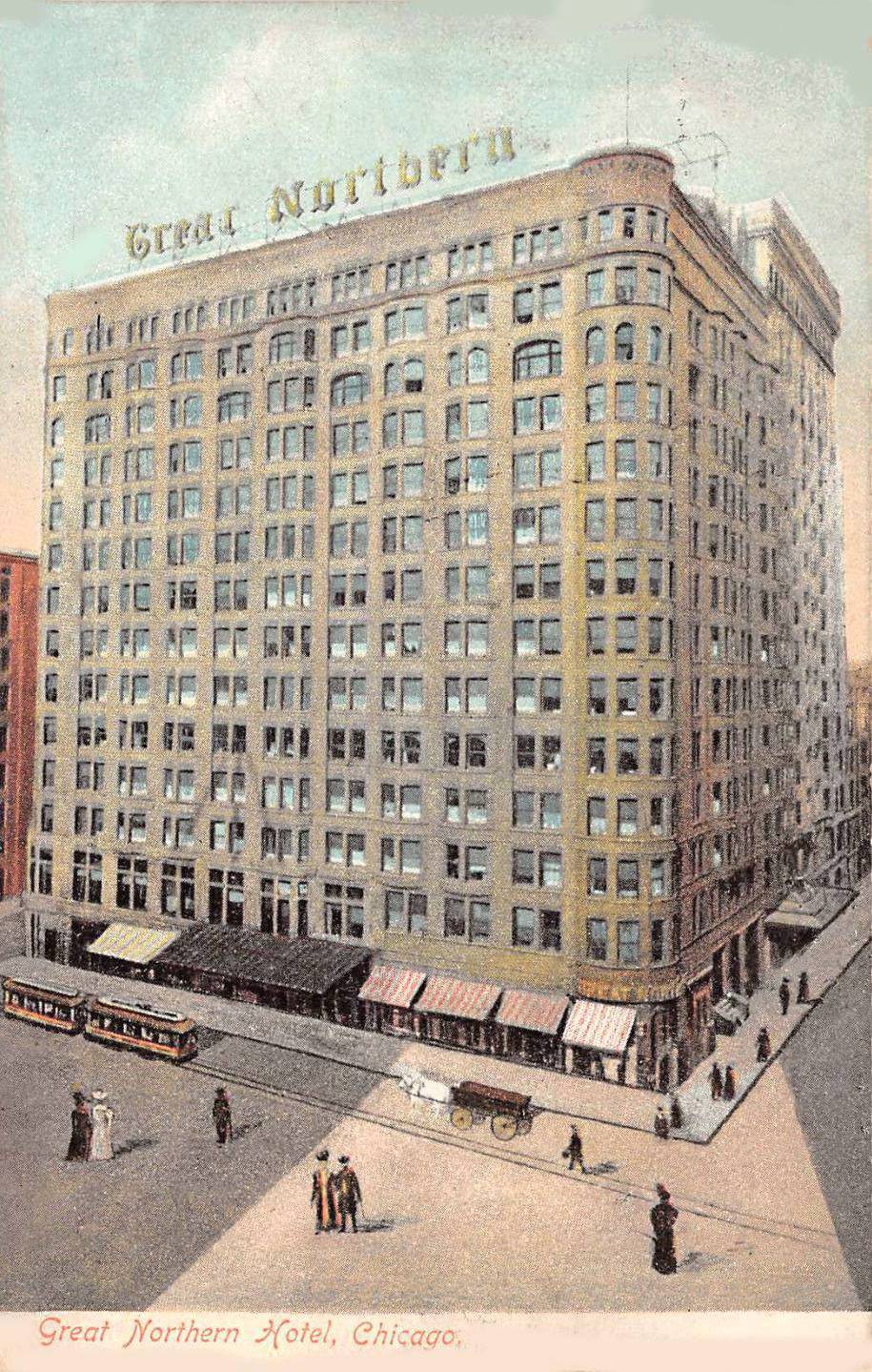 Postcard Chicago Great Northern Hotel 267 S Dearborn 1908