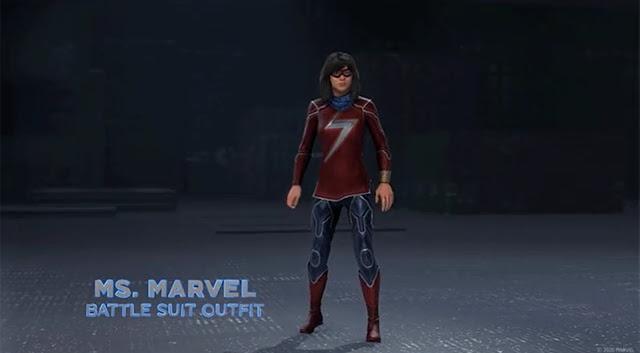 Marvel's Avengers Ms Marvel Battle Suit Legendary Outfit - Community Challenges Cosmetics