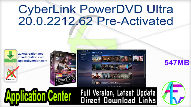 CyberLink PowerDVD Ultra 20.0.2212.62 Pre-Activated