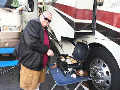 Paul Manned the Barbeque