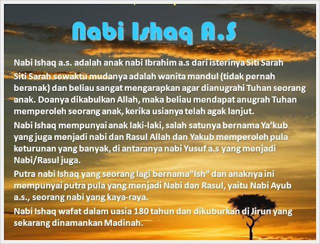http://sunnahsunni.blogspot.com/2014/10/kisah-nabi-ishaq-alaihisalam.html