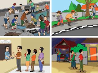 "gambar kegiatan warga masyarakat di kampung ""Damai"" www.simplenews.me"