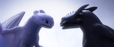 Toothless and Light Fury How to Train Your Dragon: The Hidden World 2019 movie