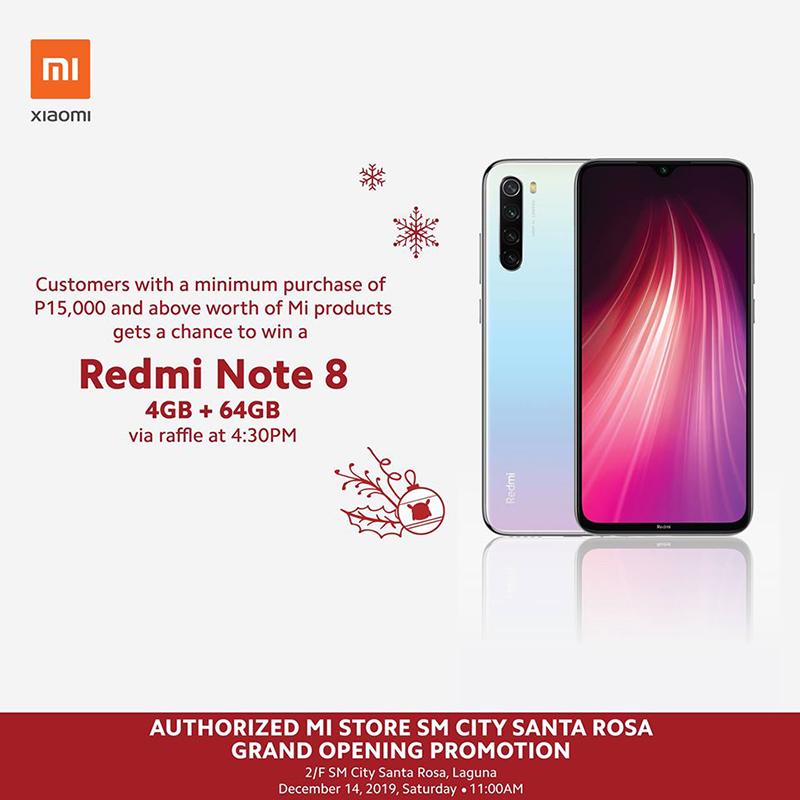 In-event brand new Redmi Note 8 raffle