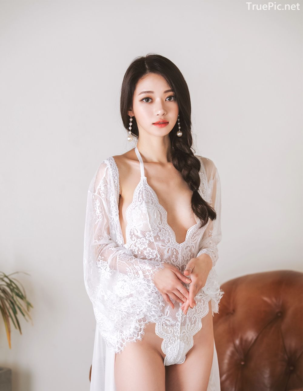 Korean Lingerie Model - Hee - Black and White Sexy Lingerie Collection - TruePic.net - Picture 7