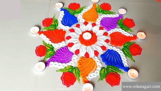 Rangoli  in Diwali