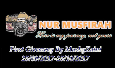 """First Giveaway by Mushyzaini"""
