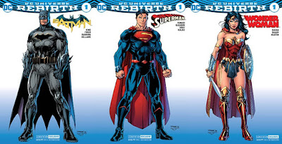 San Diego Comic-Con 2016 Rebirth Batman, Superman & Wonder Woman #1 Comic Book Variant Covers by Jim Lee x DC Comics x Graphitti Designs