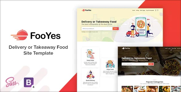 Best Delivery or Takeaway Food Site Template