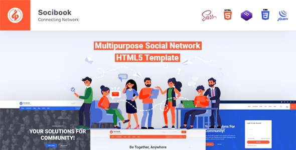 Best Multipurpose Social Network Bootstrap Template
